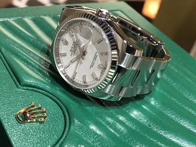 ロレックス 買取 マルカ(MARUKA) 銀座 116234 デイトジャスト ホワイト 高級時計 高価買取