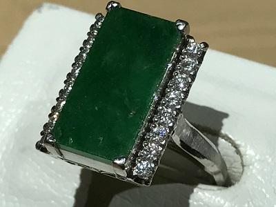 ヒスイ 翡翠  指輪 宝石 ダイヤモンド 買取 ジュエリー 京都 四条 烏丸