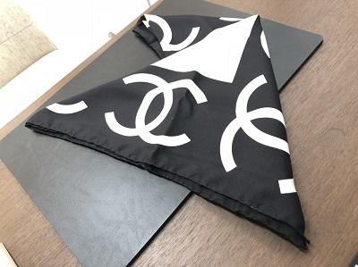 シャネル強化買取中のマルカ ブランド小物買取 スカーフ ココマーク 使用品 マルカ京都マルイ店