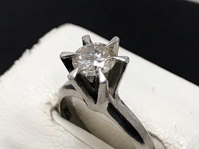 ダイヤモンド買取 0.73ct 立爪ダイヤモンド買取 プラチナリング 宝石買取 下京区 西七条 七条店