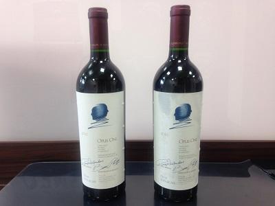 ワイン買取 オーパスワン2011 2本 カルフォルニアワイン人気No.1 お酒買取MARUKA心斎橋店