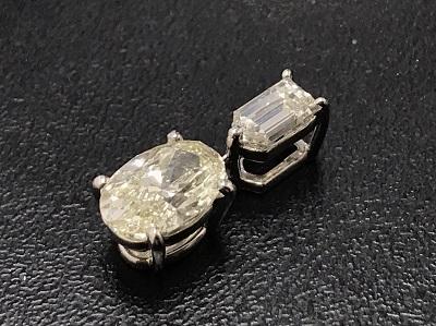 ダイヤモンド買取 1.009ct メレダイヤモンド 0.30ct プラチナトップ買取 下京区 七条店