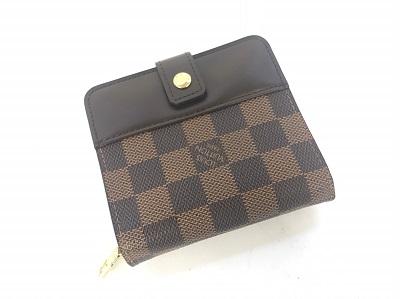 ルイヴィトンを高く売れるマルカ 財布買取 コンパクトジップ ダミエ・エベヌ 郵送買取 日本全国