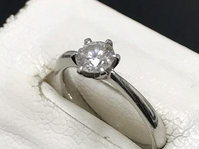 ダイヤモンド買取 0.448ct プラチナリング買取 立爪ダイヤモンド 下京区 西七条 七条店