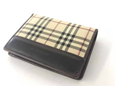 バーバリー 二つ折り財布 買取 チェック柄 買取 姫路 三木 尼崎 MARUKA