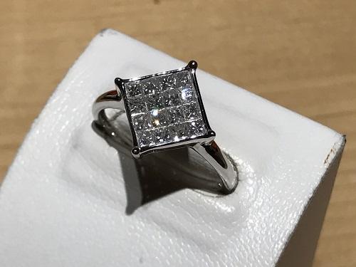 リング 指輪  買取 京都 四条 烏丸 プラチナ Pt ダイヤモンド ダイヤ プリンセスカット