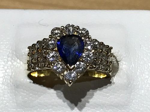 指輪 ダイヤモンド 買取 京都 四条 烏丸  サファイア  リング 金 ゴールド K18 ジュエリー 宝石