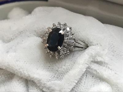Pt900 サファイア 指輪 買取 宝石 ジュエリー 買取 三宮センター街 さんプラザ センタープラザ MARUKA