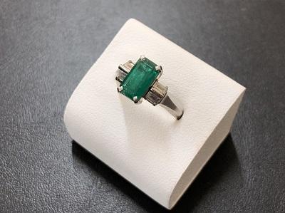 エメラルド買取 プラチナリング ダイヤモンド 宝石 貴金属 買取 京都マルイ店