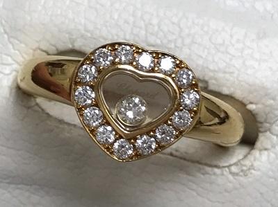 ショパール買取 ハッピーダイヤモンド リング 750YG ショパール買取もMARUKA七条店へ
