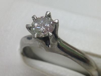 立爪ダイヤモンドリング買取 0.37ct 小さいダイヤでもこの価格差が ダイヤ買取MARUKA心斎橋店