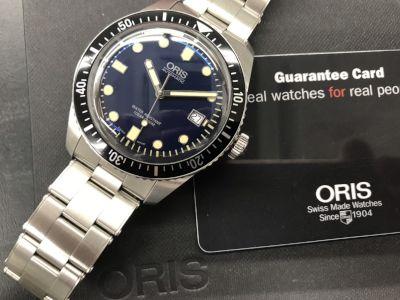 オリス買取 ダイバーズ65 01.733.7720.4055 あらゆる時計買取ならMARUKA心斎橋店にお任せ