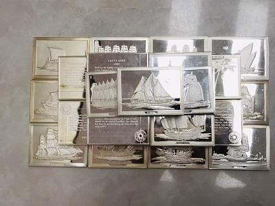 銀買取 世界の帆船 SV925 シルバープレート 50枚 銀買取もMARUKA七条店へ