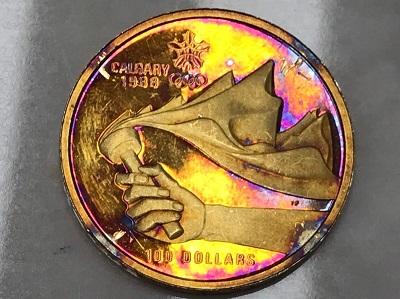 コイン買取 カルガリーオリンピック100ドル金貨 コイン買取もMARUKA七条店へ