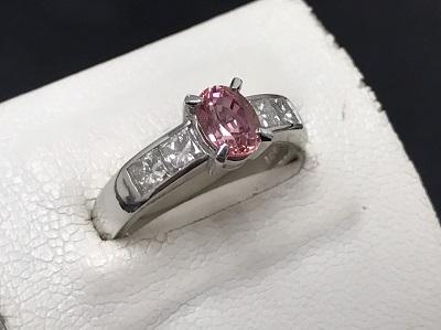 サファイア買取 K18WG 1.06ct 0.80ct 6.3g 宝石 ダイヤモンド 大宮 買取