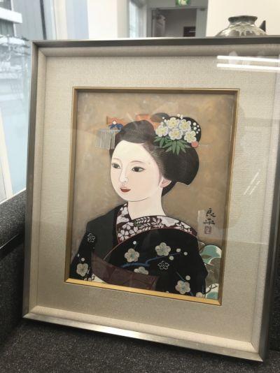 美術品買取 三輪良平 版画 舞妓 絵画買取もMARUKAへ 65年の老舗質屋が母体です