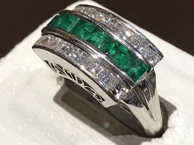 エメラルド買取 1.14ct メレダイヤモンド買取 0.95ct リング買取 プラチナ 宝石買取 四条通 四条店