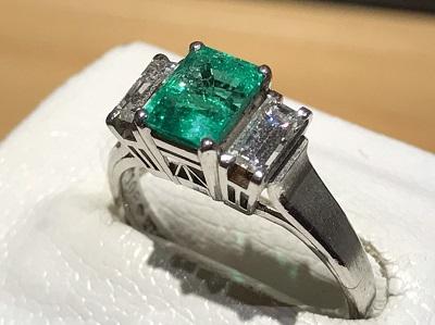 エメラルド 買取 宝石 指輪 ダイヤ プラチナ 京都 四条 烏丸