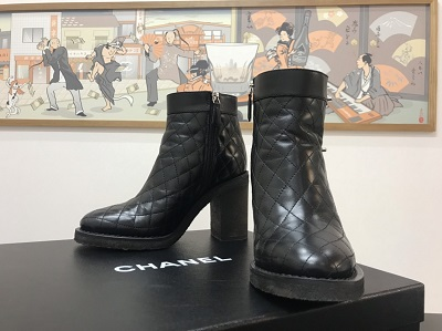 シャネル買取 シャネル ターンロック ブーツ マトラッセ MARUKA MEGAドンキ港山下ナナイロ 元町