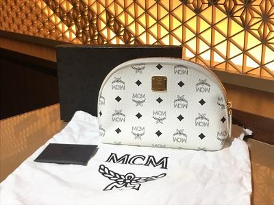 MCM買取 ポーチ ホワイト レザー MARUKA MEGAドンキホーテ港山下ナナイロ 中華街 高価買取 元町