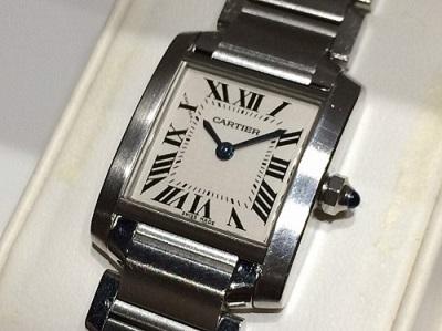 カルティエ買取 タンクフランセーズ 高級腕時計 ブランド買取 玉川高島屋S・C店