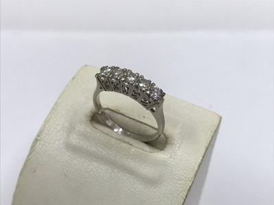 Pt850 ダイヤ 指輪買取 プラチナ 一文字 買取 北区 西区 須磨区  MARUKA