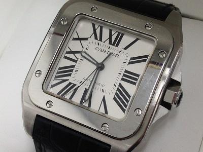 カルティエ時計買取 サントス100LM W20073XB 時計高く売るならMARUKA大阪心斎橋店へ