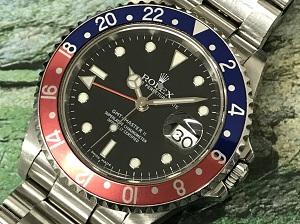 ロレックス買取 GMTマスターⅡ Ref.16710 赤青 P番 ペプシ 銀座・渋谷・二子玉川・横浜