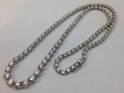 ダイヤモンドテニスネックレス買取 合計10.0ct 「テニス」の由来 宝石買取はMARUKA心斎橋店