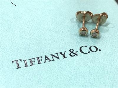 ティファニー買取 750PGダイヤモンド ブランドジュエリー高価買取 田園都市線沿線 玉川高島屋S・C