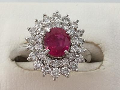 プラチナ ルビー 指輪買取 ダイヤ 宝石買取 元町 三宮 県庁前 MARUKA