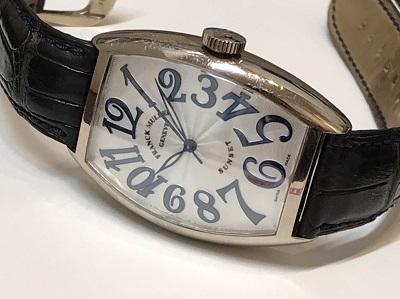 フランクミュラー買取 サンセット 5850SC 750WG×革 時計買取 二子玉川 世田谷