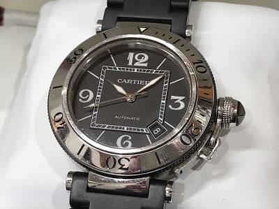 カルティエ買取 パシャシータイマー W31077U2 メンズ 時計買取 二子玉川 世田谷