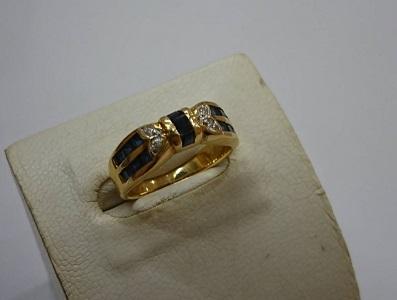 指輪 750 金買取 サファイア ダイヤ 宝石買取 兵庫県 神戸市 三宮 MARUKA