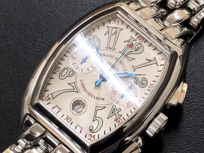 フランクミュラー買取 コンキスタドークロノグラフ 8001CC ABランク 時計買取 京都 四条 河原町 マルイ店