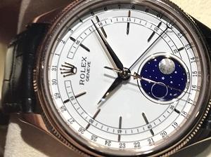 ロレックス買取チェリーニムーンフェイズRef.50535 箱・保証書付き 時計買取