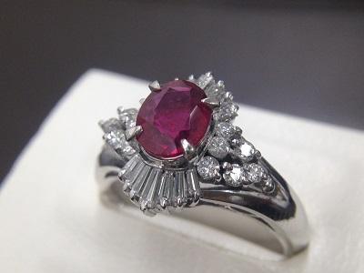 ルビー&ダイヤモンドプラチナリング買取 宝石を売る時大事なのはお店選び ルビー買取MARUKA大阪心斎橋店