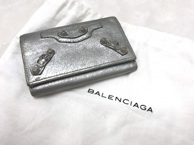 バレンシアガ クラシックオオサカ レザー シルバー 買取 MARUKA七条店にお越しくださいませ!