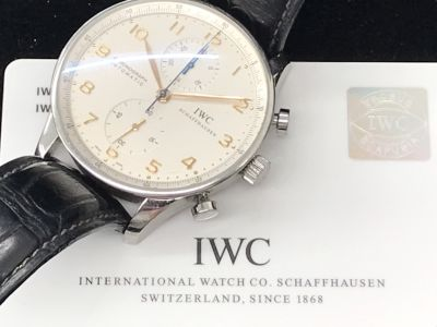 IWC買取 ポルトギーゼクロノ ベルト社外 IW371401 時計買取ならMARUKA心斎橋店