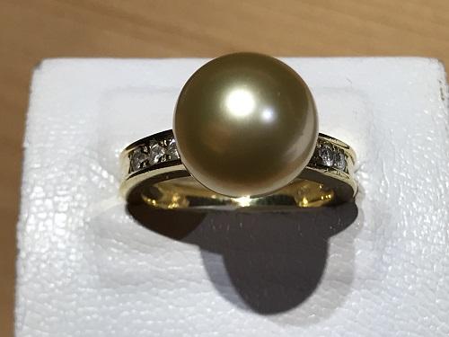 ゴールデンパール 宝石 金 ダイヤ 指輪 京都 四条 烏丸