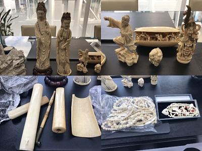象牙買取 置物 彫刻 根付 アクセサリーなど多数 骨董品買取もMARUKAにお任せを