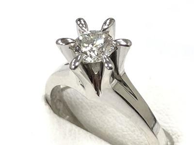 ダイヤモンドリング買取 ダイヤ0.47カラット プラチナPt900 宝石買取 貴金属買取 京都 四条 河原町 マルイ店