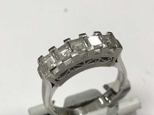 ダイヤモンド買取 一文字リング