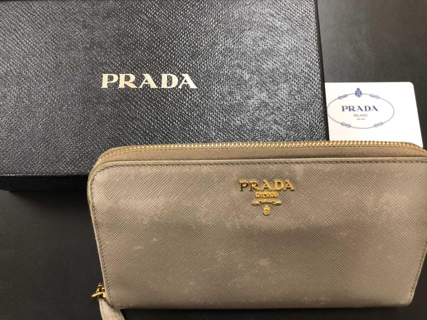 プラダ買取 ラウンド財布