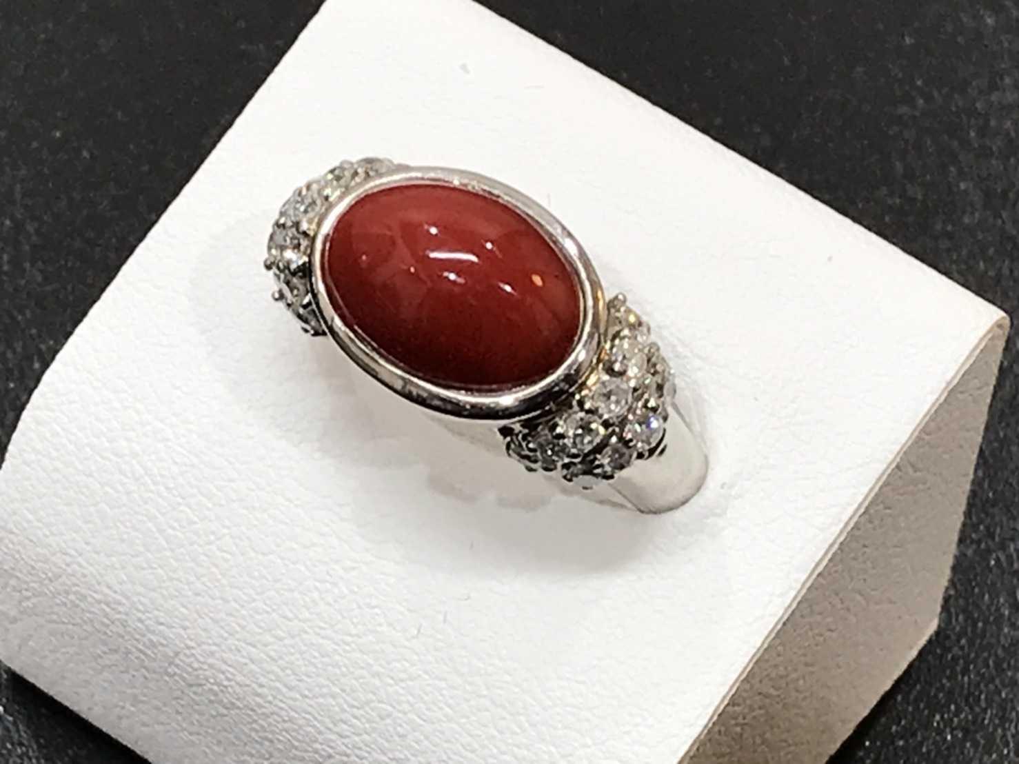 珊瑚買取 指輪