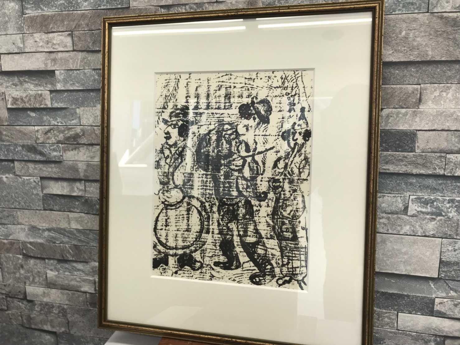 シャガール買取 リトグラフ「放浪の楽師たち」