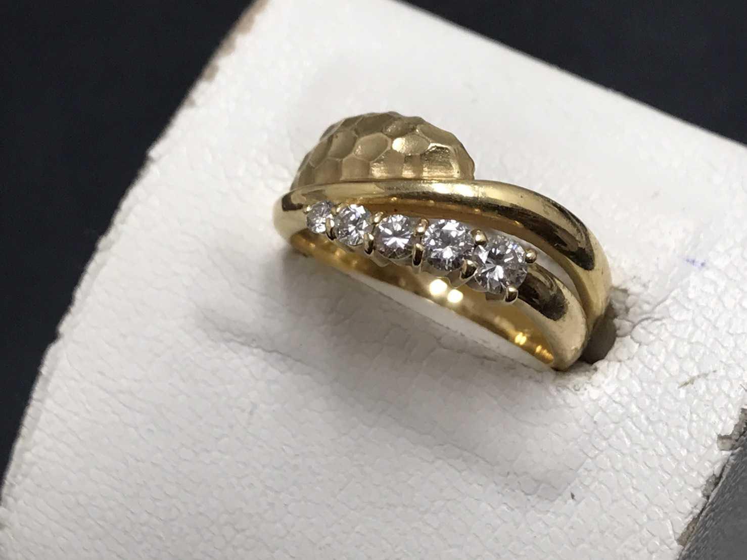 ダイヤモンド買取 K18指輪