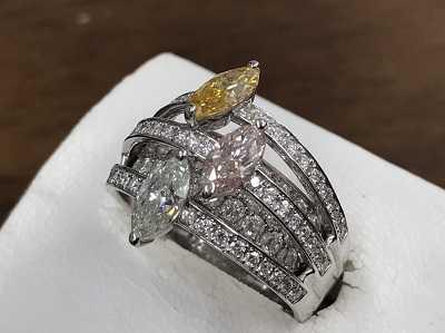 ダイヤモンド買取 カラーダイヤファッションリング