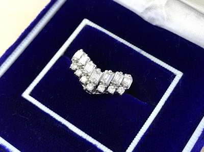 ダイヤリング買取 メレダイヤ