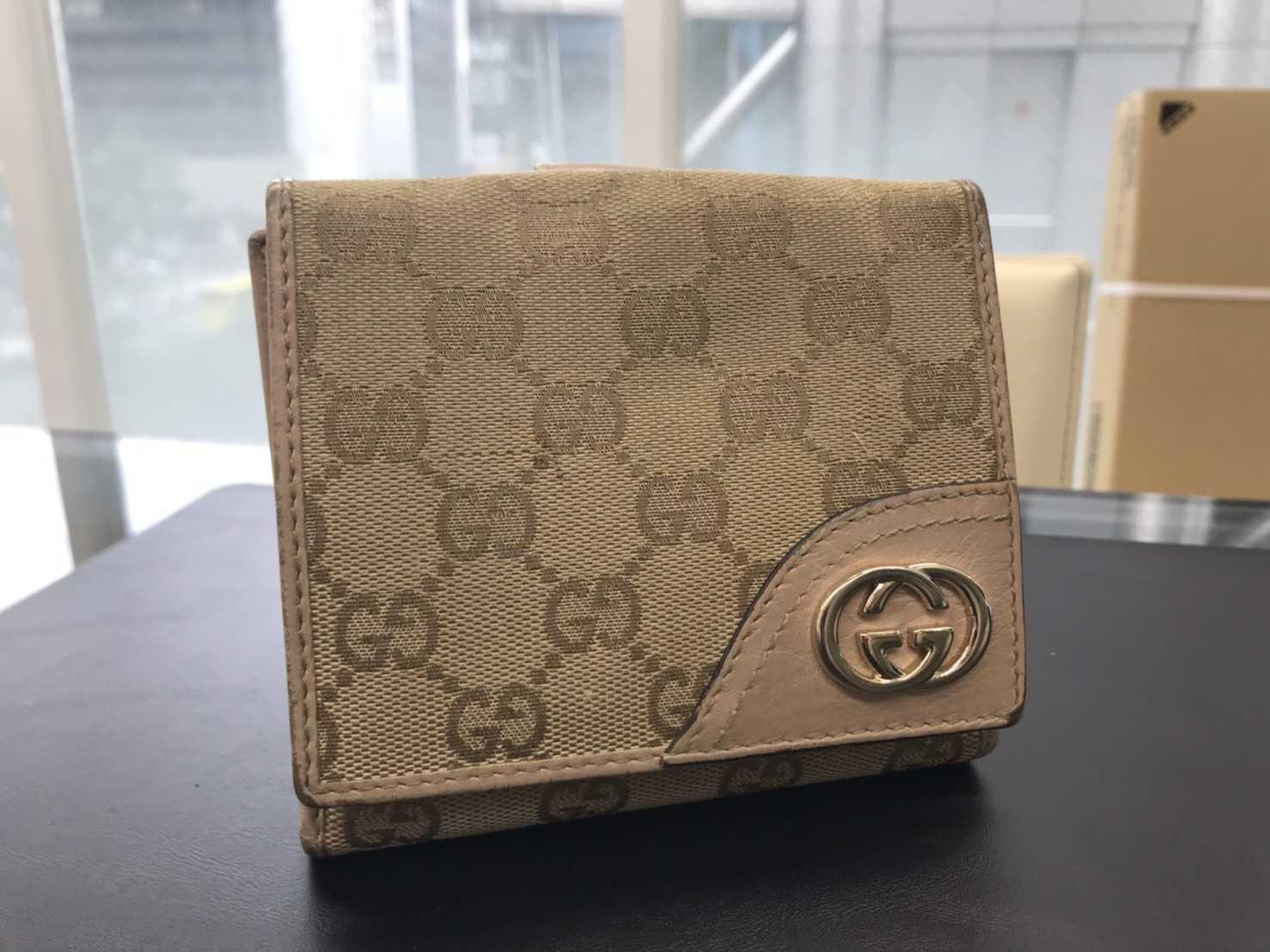 グッチ買取 GGキャンバス二つ折り財布